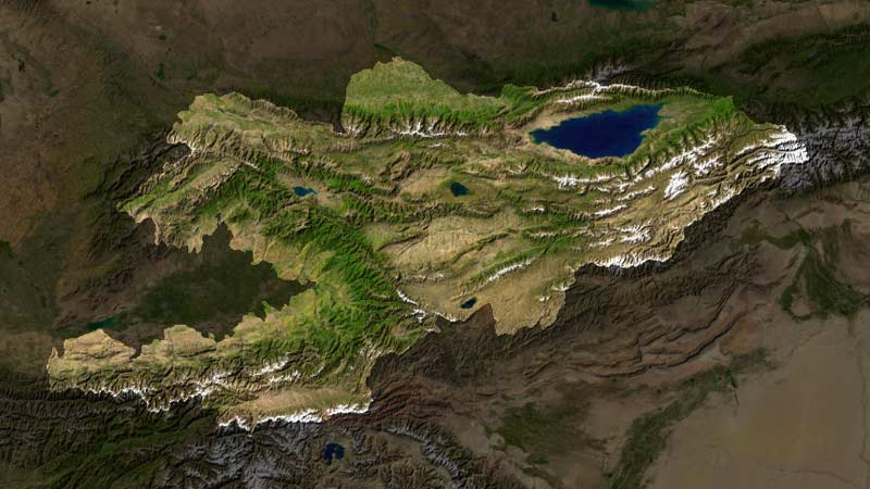 Image:Kyrgyzstan satellite photo