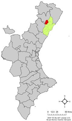 Vị trí của La Serra d'En Galceran