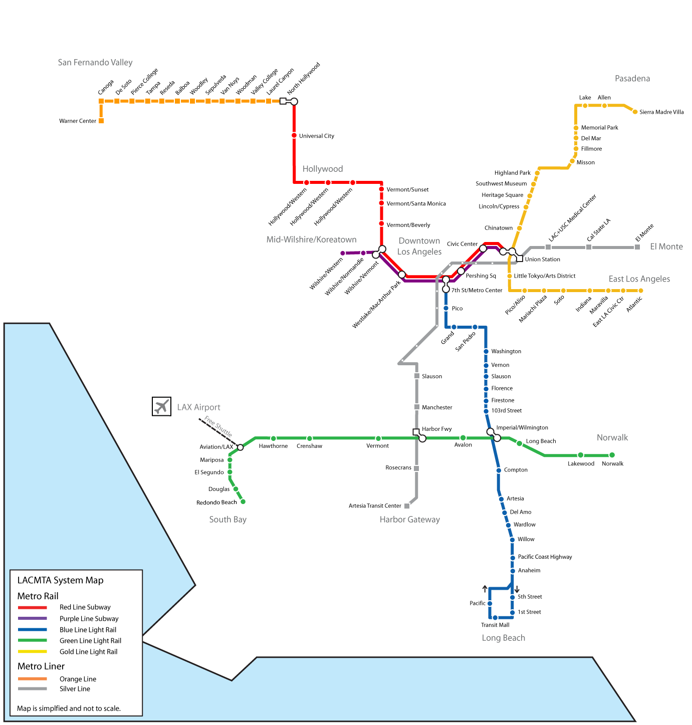 Subway Los Angeles Map