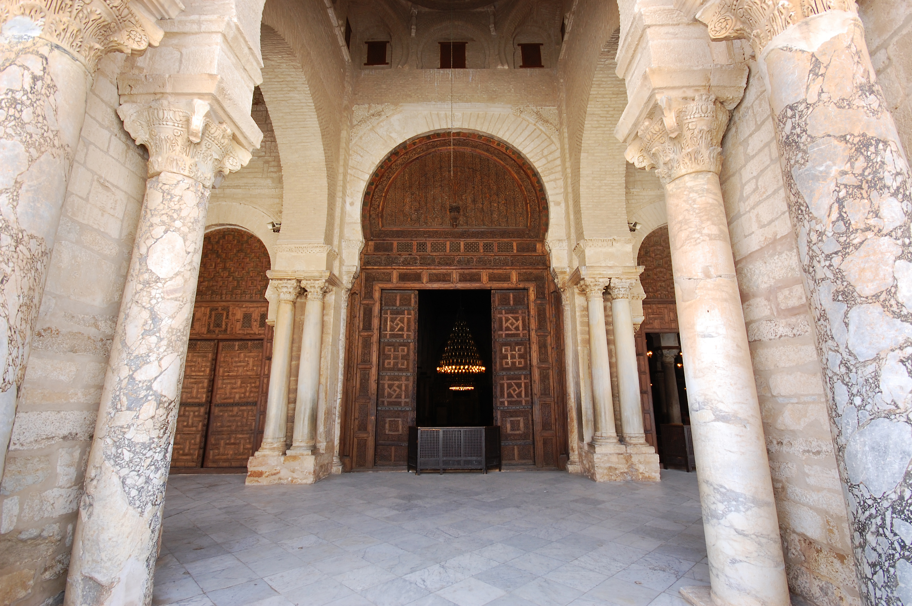 File:Main Door Of The Prayer Hall Of The Great Mosque Of Kairouan