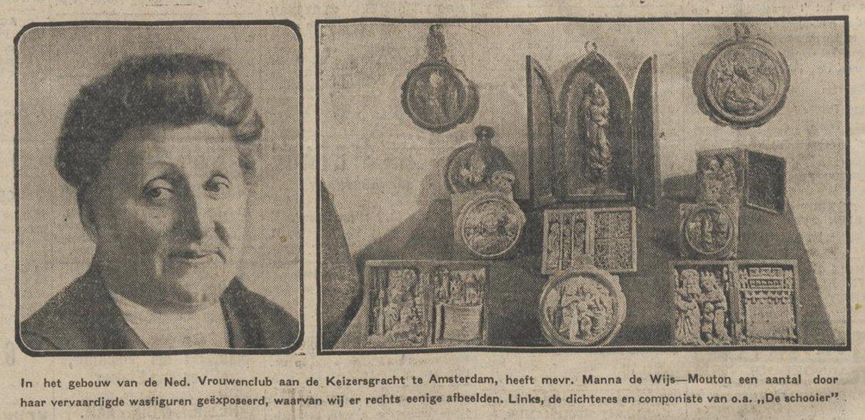 Archivo:Manna de Wijs-Mouton (links) en enkele van haar wasfiguren.jpg -  Wikipedia, la enciclopedia libre