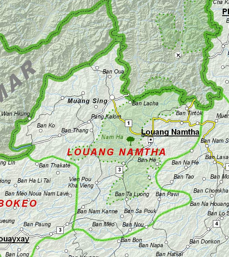 Luang Namtha Laos  City new picture : Map of Luang Namtha Province, Laos Wikimedia Commons