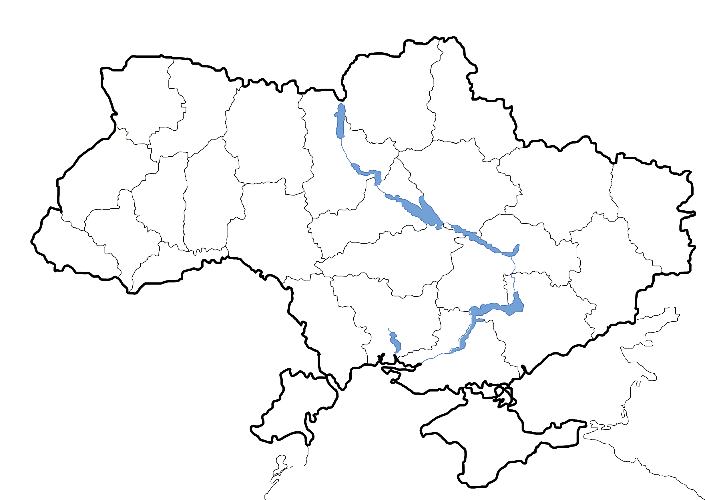 FileMap of Ukraine political simple blankpng  Wikimedia Commons