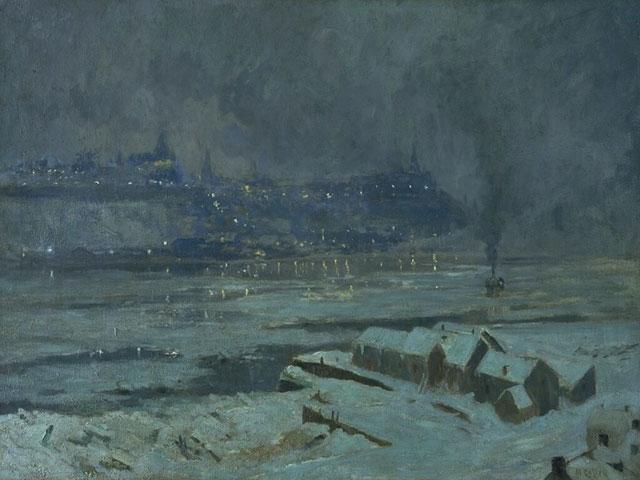 Maurice Cullen - Winter Evening, Quebec