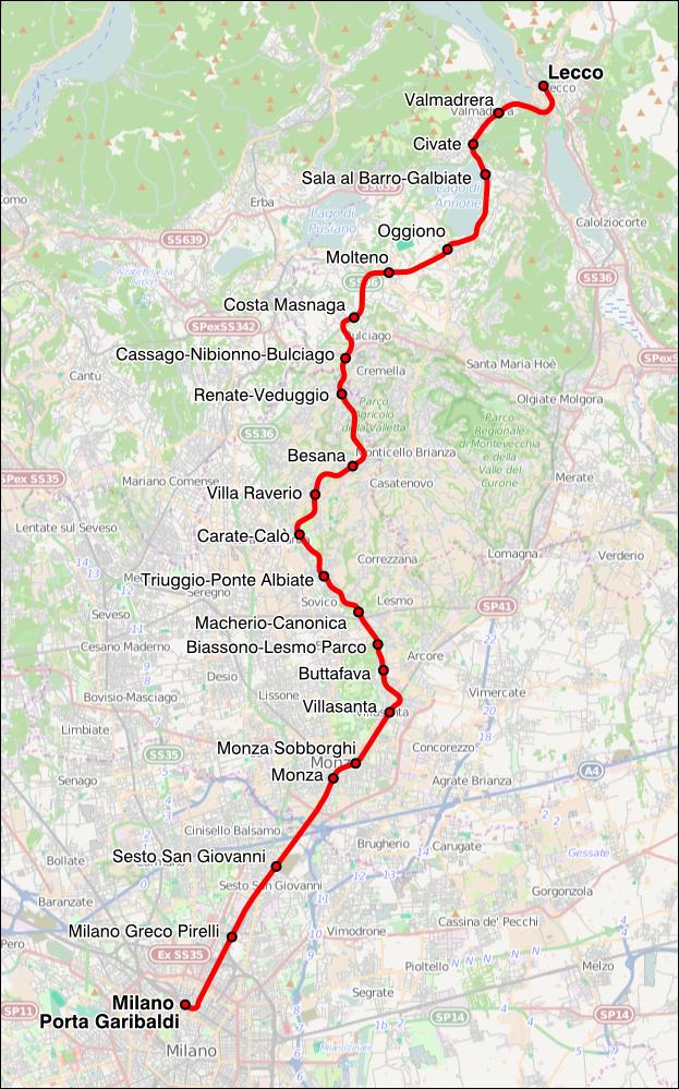 Line s7 milan suburban railway service wikipedia - Trenord porta garibaldi ...