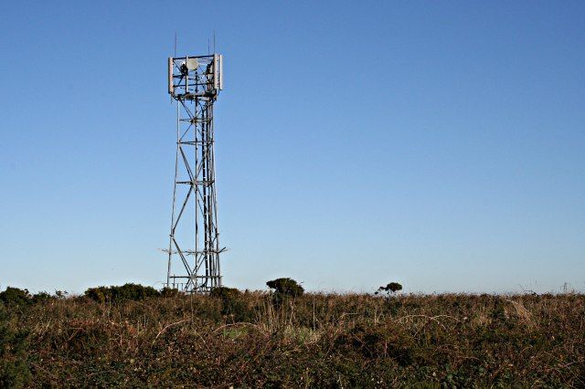File:Mobile Phone Mast at Two Burrows - geograph.org.uk - 272976.jpg
