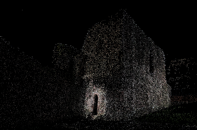 Point cloud of Monmouth Castle in Wales