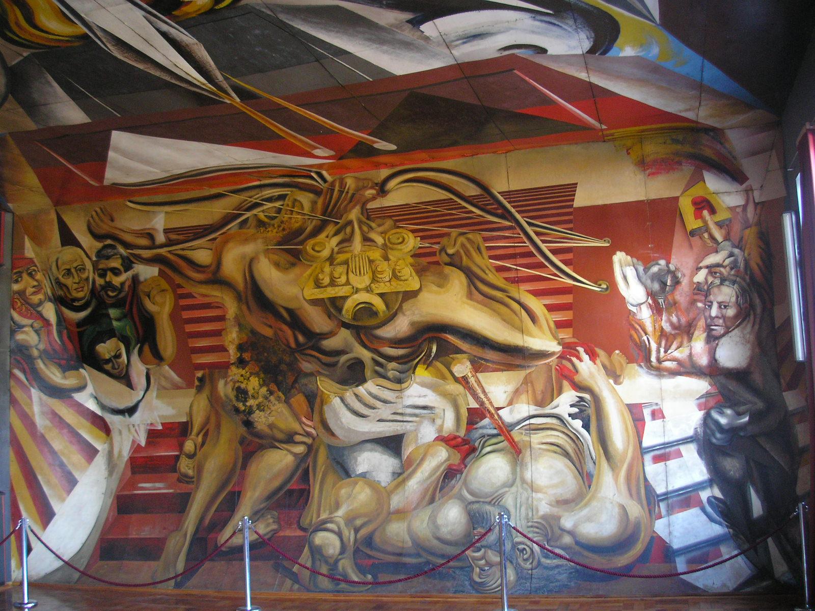 File murales de la escuela m xico de chill n siqueiros for Mural siqueiros