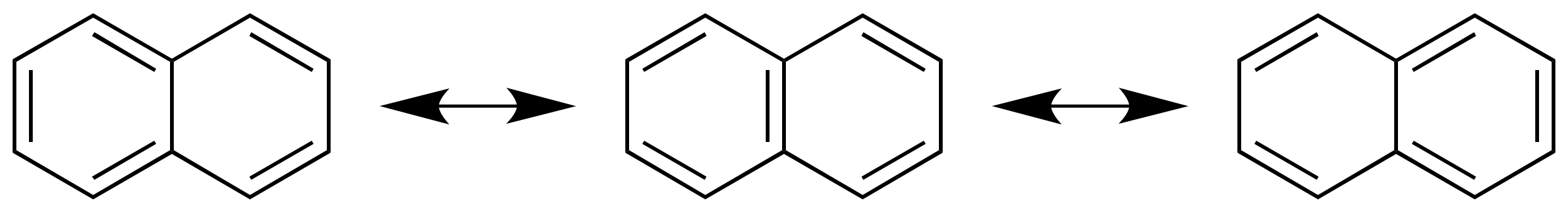 Resonance structures of naphthalene