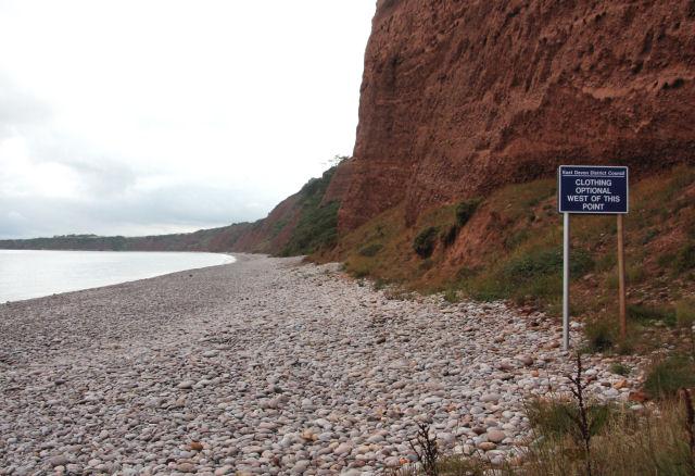 Naturist beach, Budleigh Salterton - geograph.org.uk - 1417852