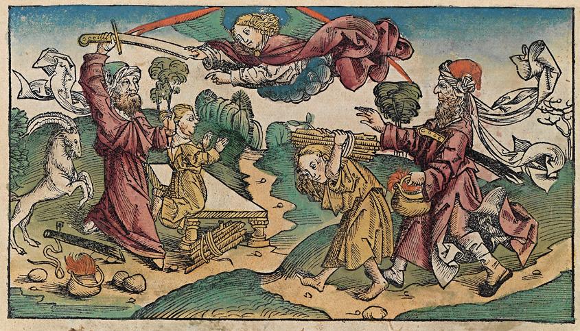 chroniques de Nuremberg - sacrifice d'Abraham