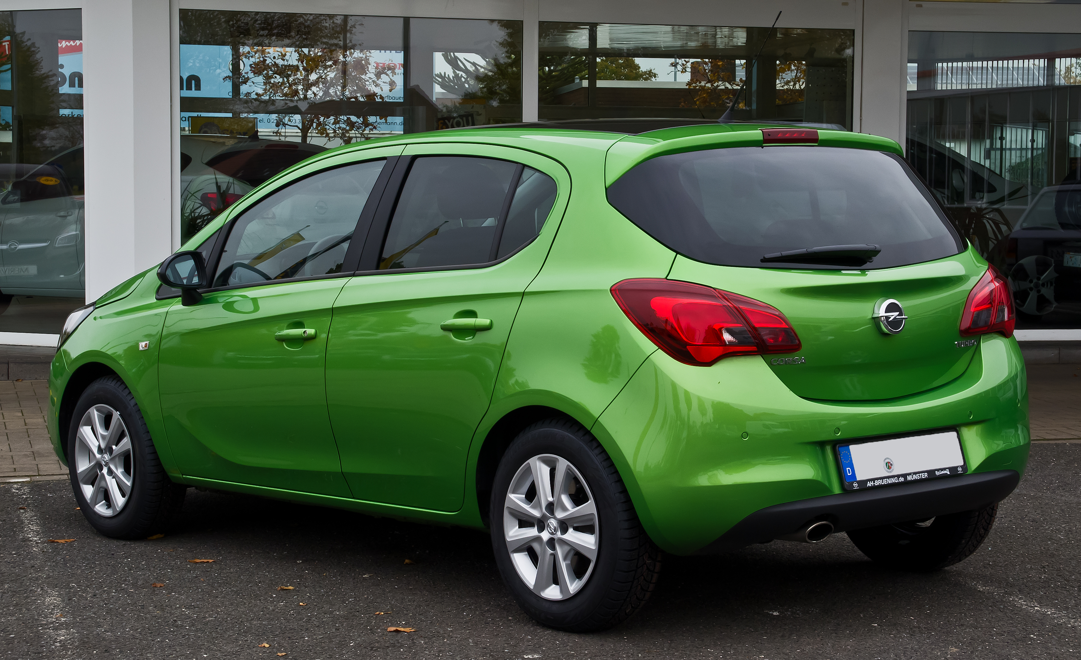 opel corsa 14 turbo ecoflex color edition e heckansicht 24 oktober - Opel Corsa Color Edition 2015