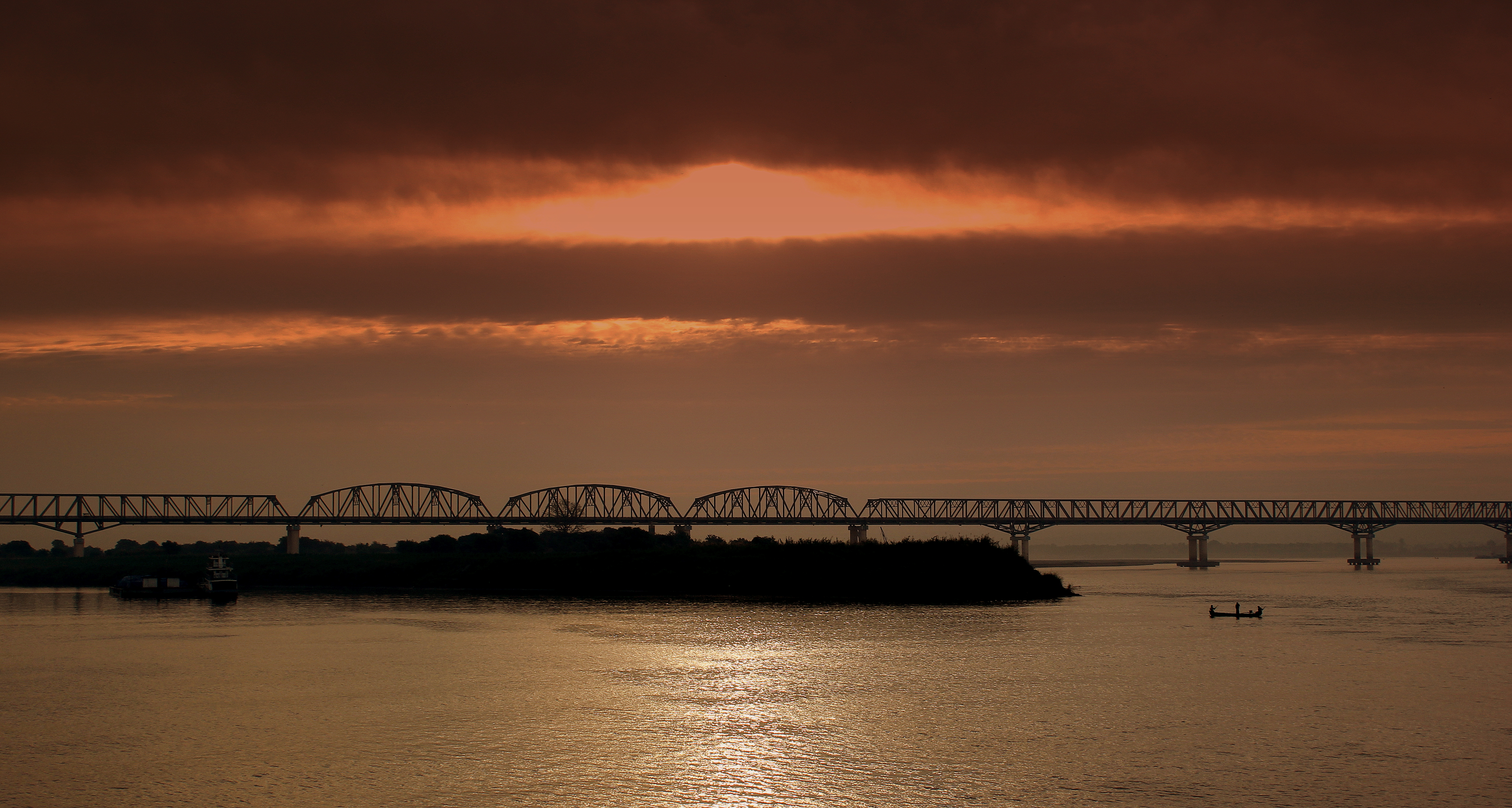 Pakokku Myanmar  city photo : PAKOKKU BRIDGE OVER THE IRRAWADDY RIVER, FERRY JOURNEY FROM BAGAN ...
