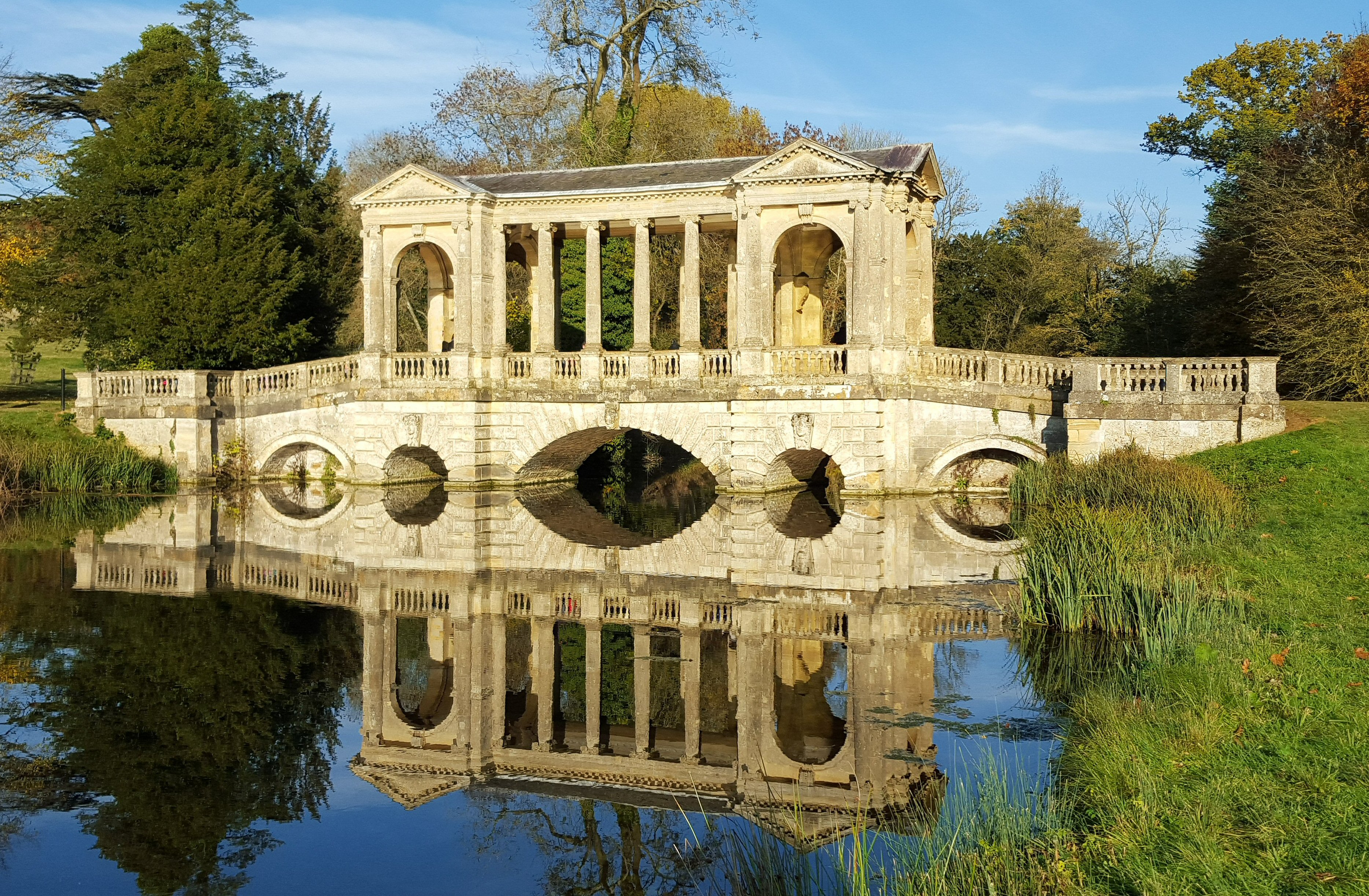 File:Palladian Bridge, Stowe Gardens Ideas