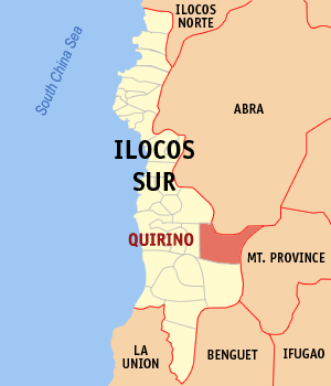 Mapa na Ilocos ed Abalaten ya nanengneng so location na Quirino
