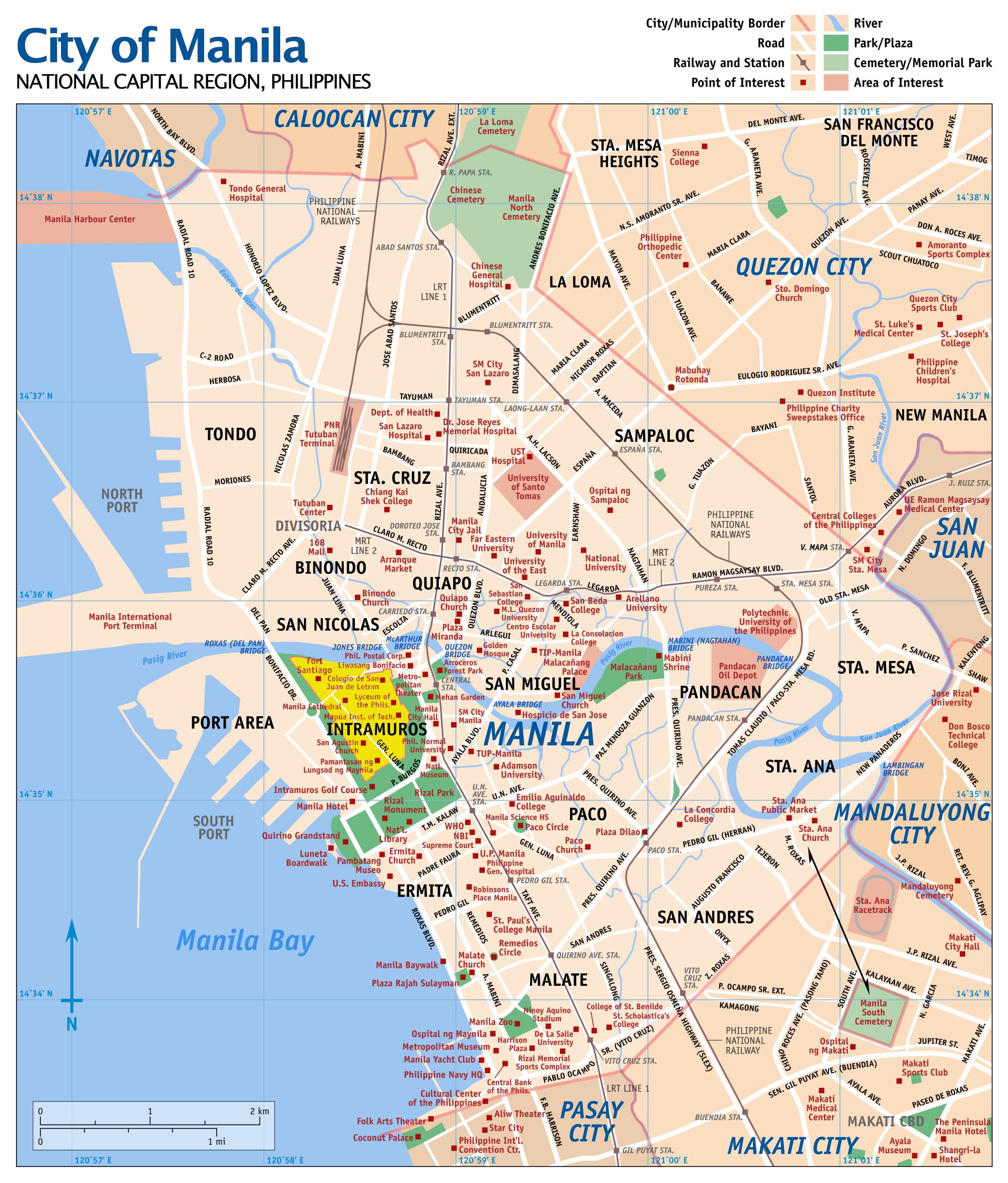 Manila Map | Maps Manila Map