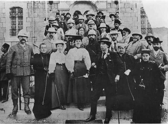 חובבי ציון מאנגליה בביקור בירושלים 1897