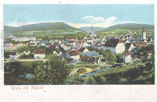 Postkarte Nagold 1906