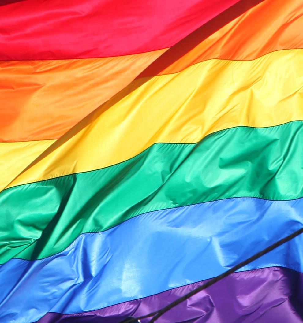 Waving Rainbow Peace Warrior Flag San Francisco 2012: Harvey Milk Plaza, Castro, San