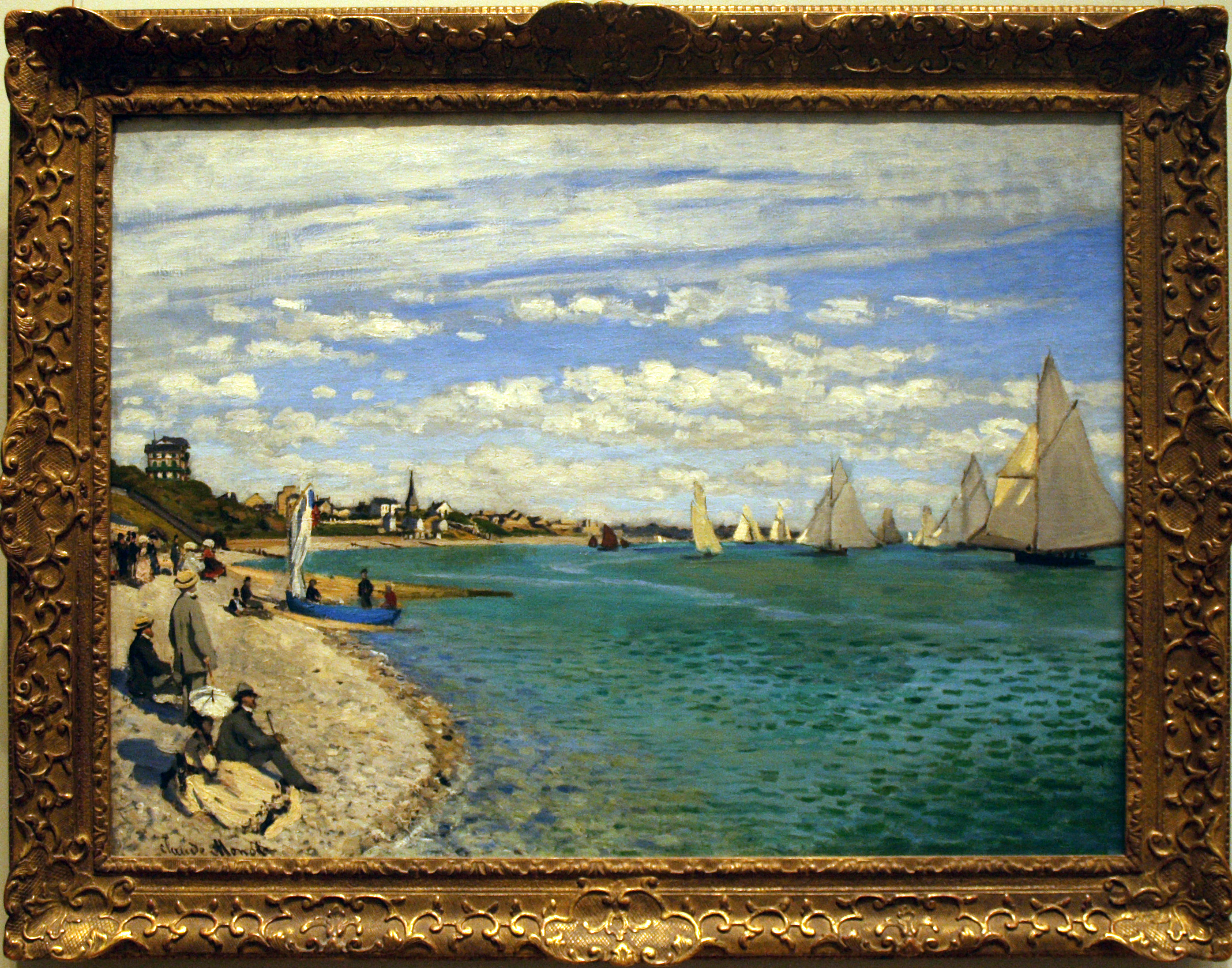 an overview of the european depiction terrace at ste adresse by monet Beach at sainte-adresse claude monet, 1867 art institute of chicago  impressionism will then quickly find a broad echo in europe and north america.