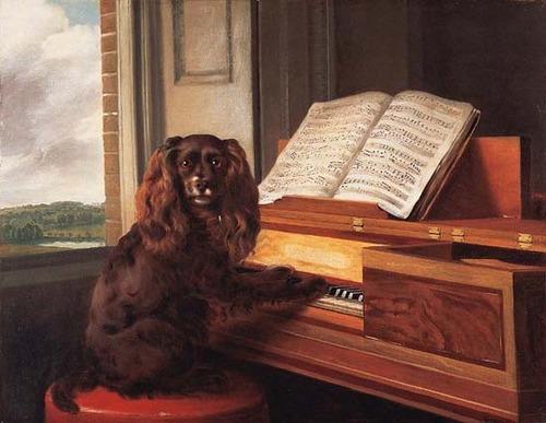 Portrait d'un chien musical extraordinaire