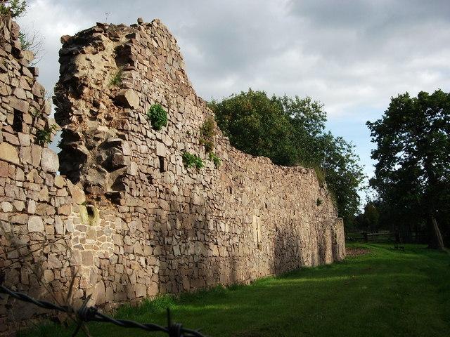 Remains of west curtain wall, Hartshill Castle, Castle Road, Hartshill