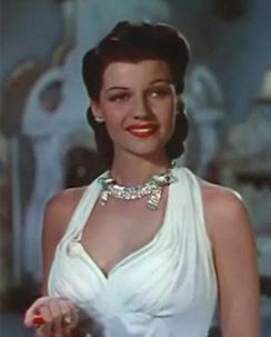 Hayworth as Doña Sol des Muire in Blood and Sand,1941