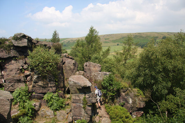 Rocks near Lud's Church - geograph.org.uk - 906702