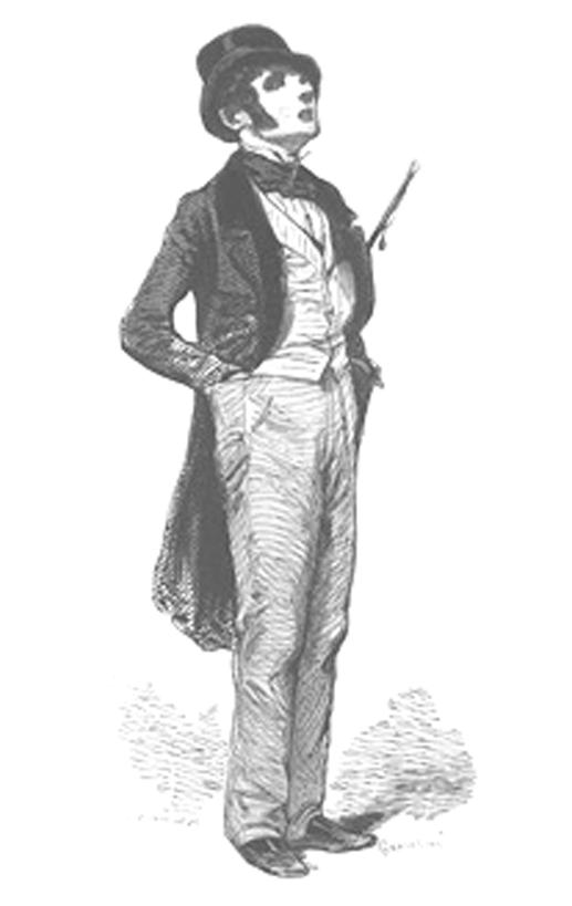 Paul Gavarni, Le Flâneur, 1842
