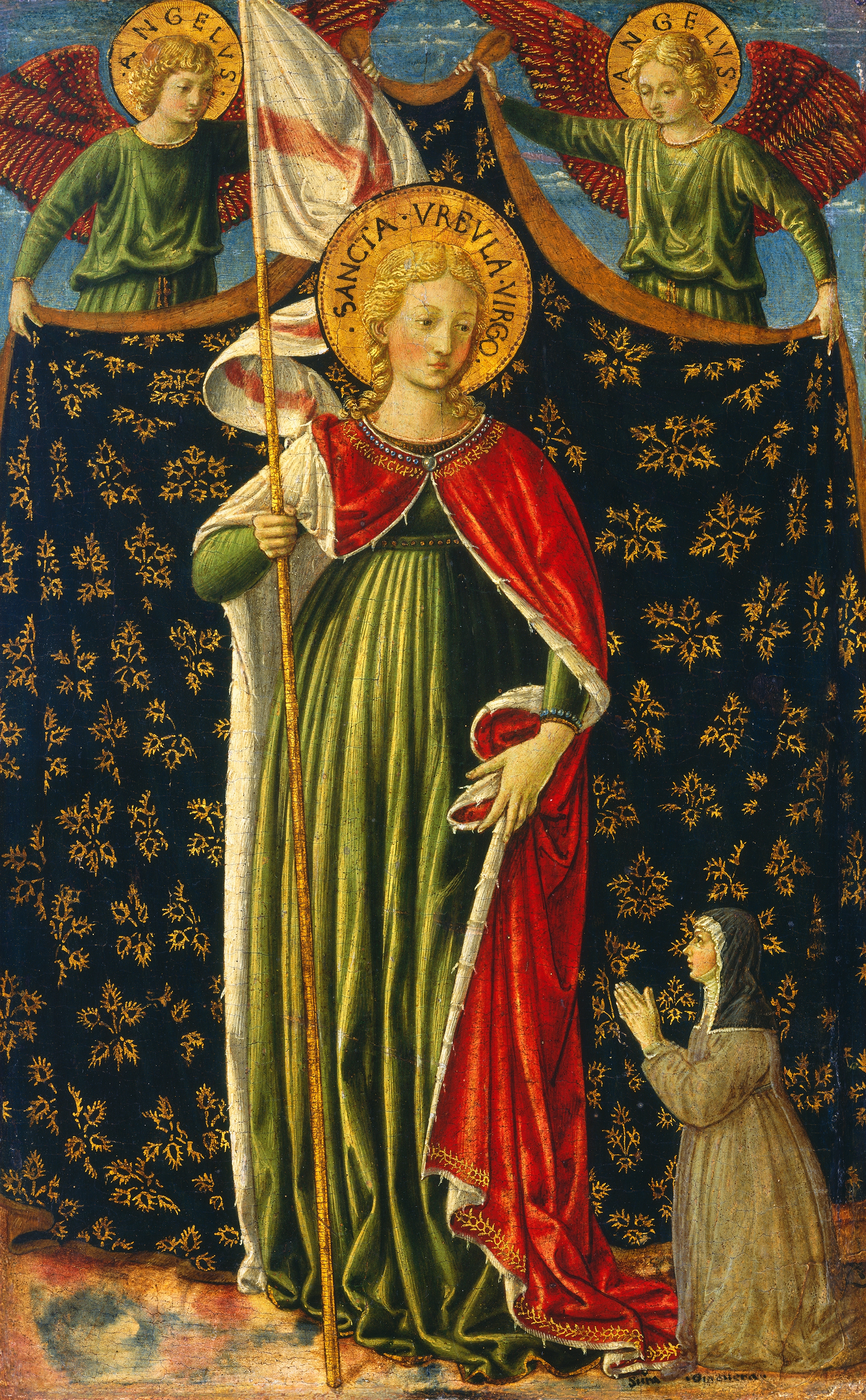 Saint Ursula, painted byBenozzo Gozzoli, c. 1455 60.