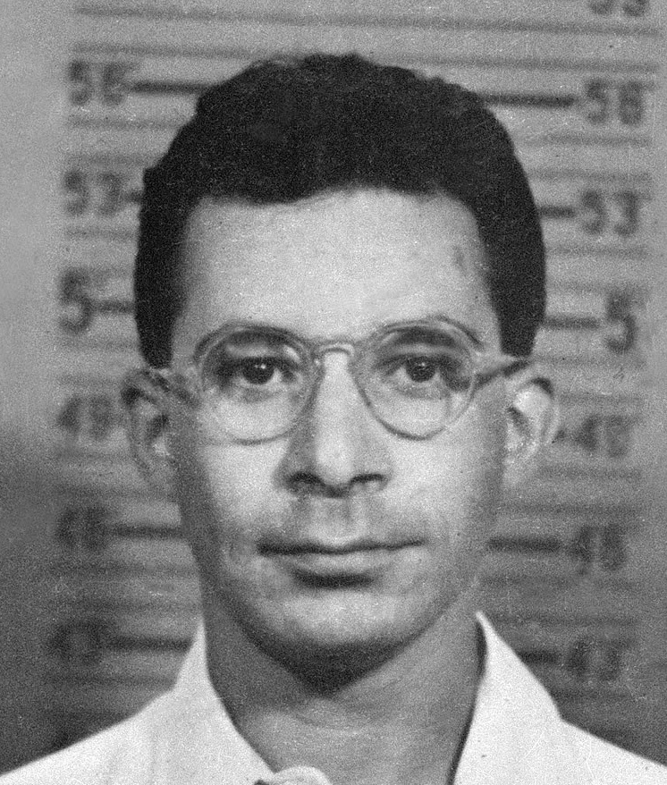 Louis Slotin's Los Alamos badge mugshot, taken...