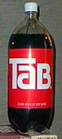 Image result for A picture of a TaB bottle