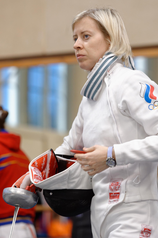 Maria Mazina epee fencer, Olympic champion