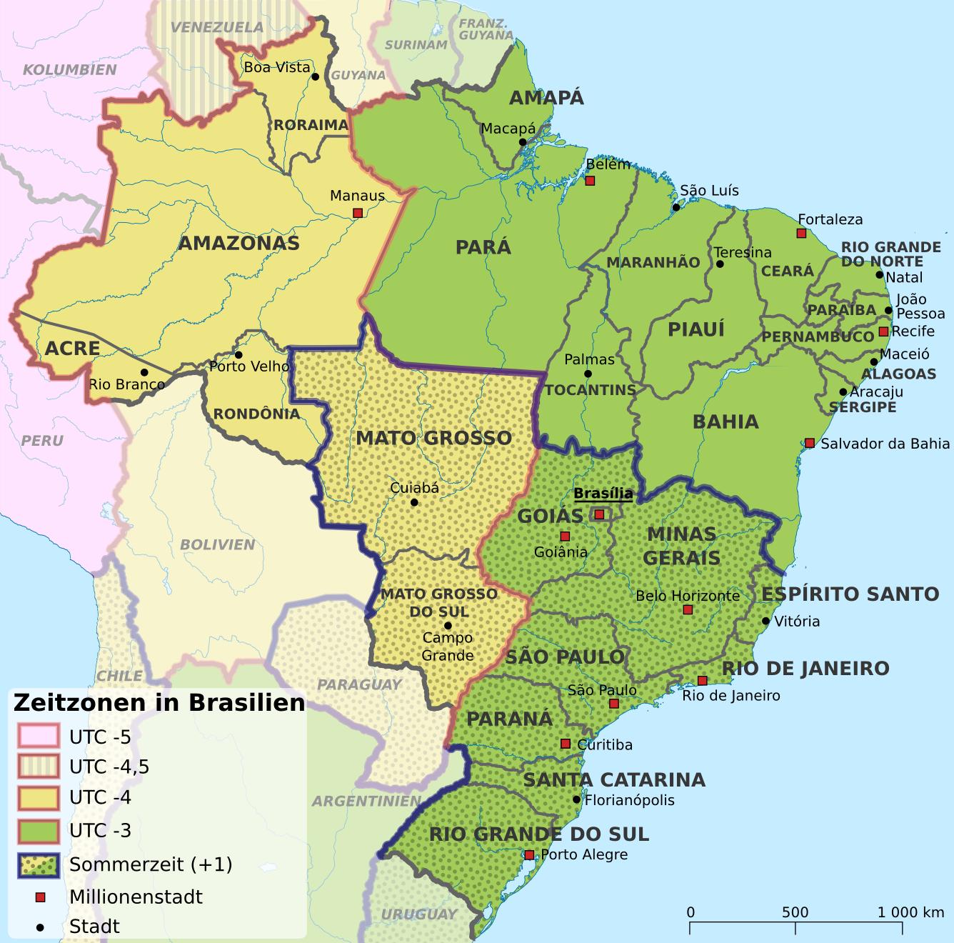 topographische karte brasilien Brasilien in Karten   ein Link Atlas