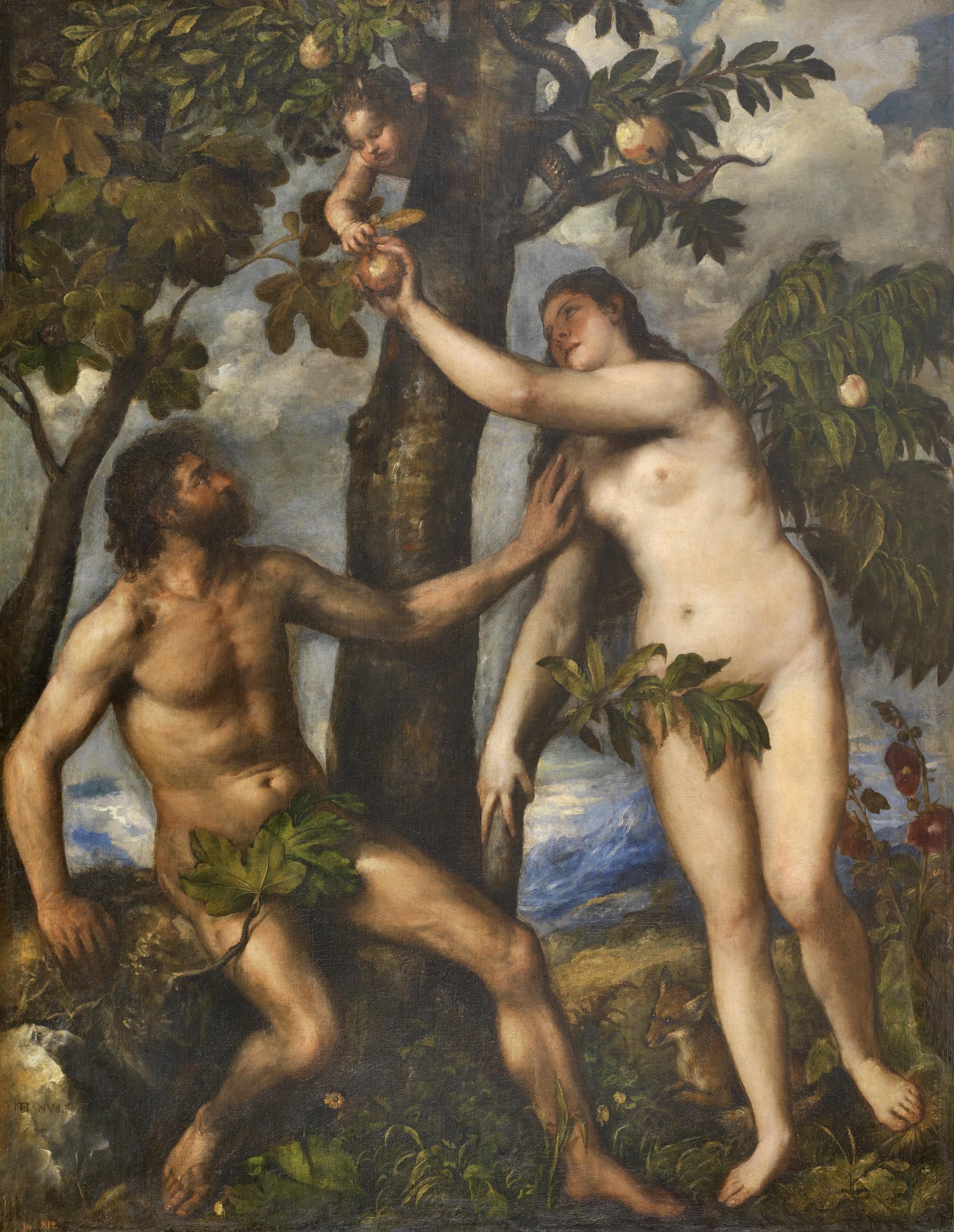 Adán Y Eva En El Paraíso Terrenal Tiziano Wikipedia La Enciclopedia Libre