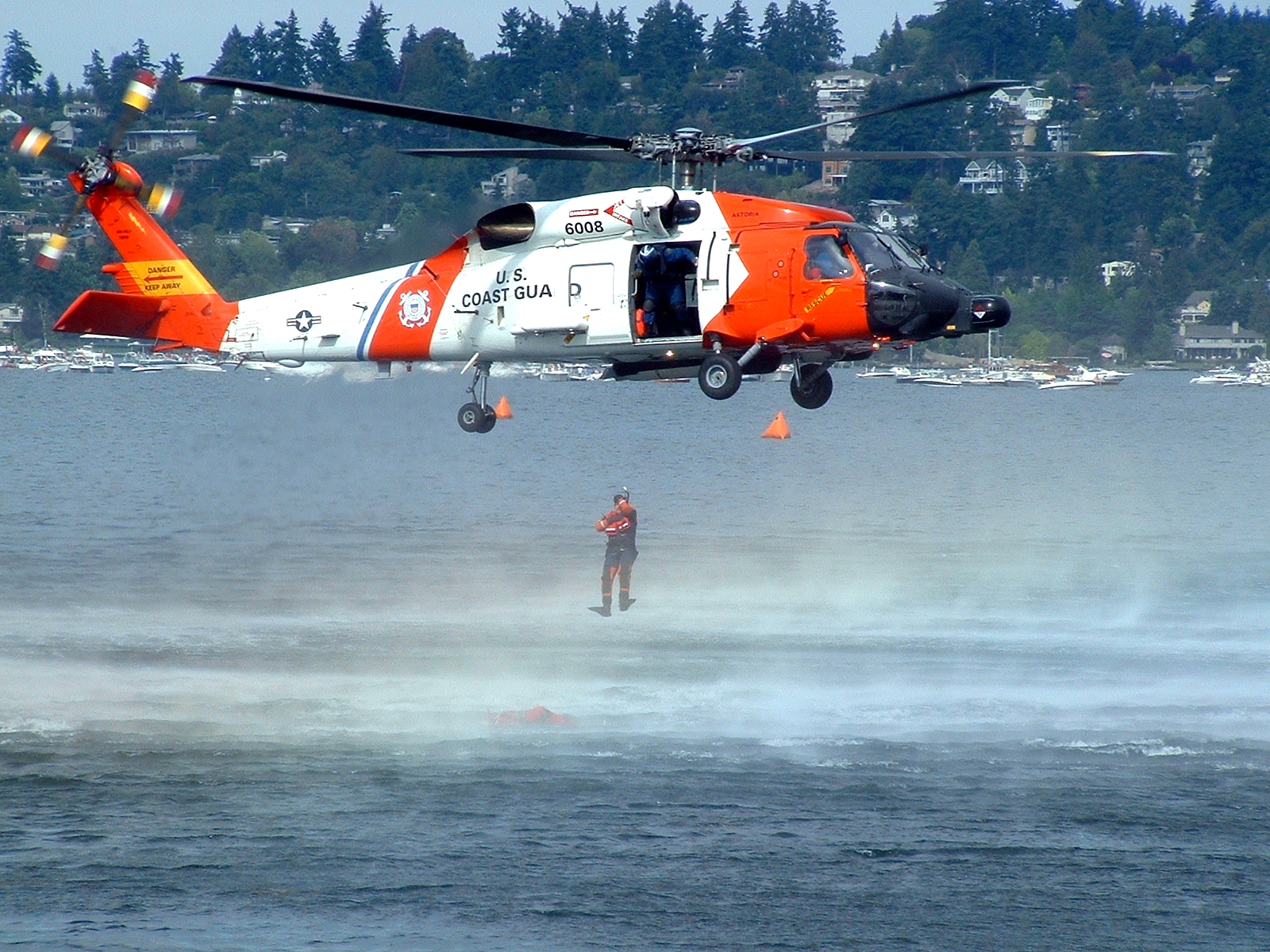 File:US Coast Guard helicopter rescue demonstration jpg