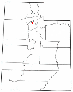 Location of North Salt Lake, Utah