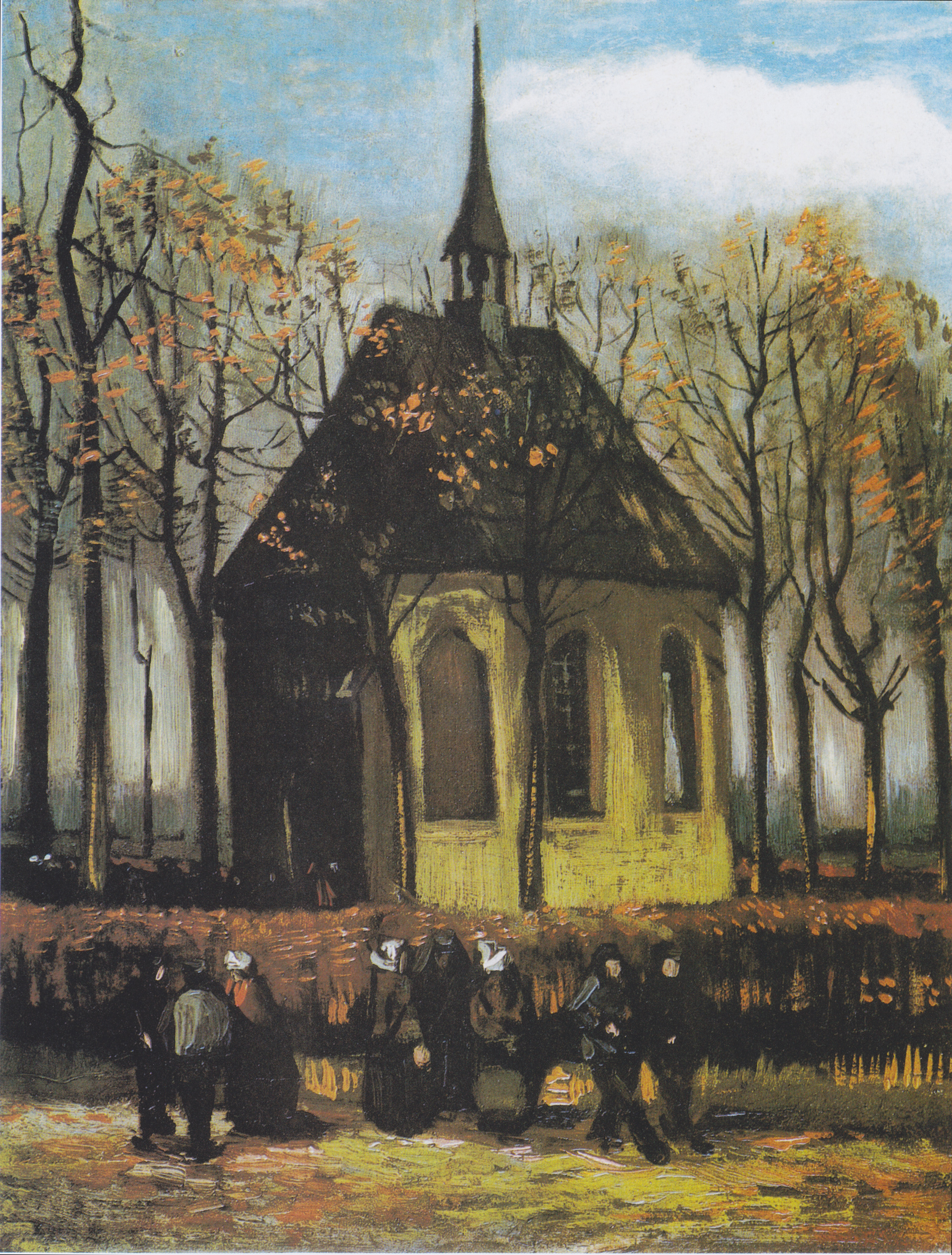 datei van gogh die kirche von nuenen mit kirchg wikipedia. Black Bedroom Furniture Sets. Home Design Ideas