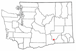 Location of Pasco, Washington
