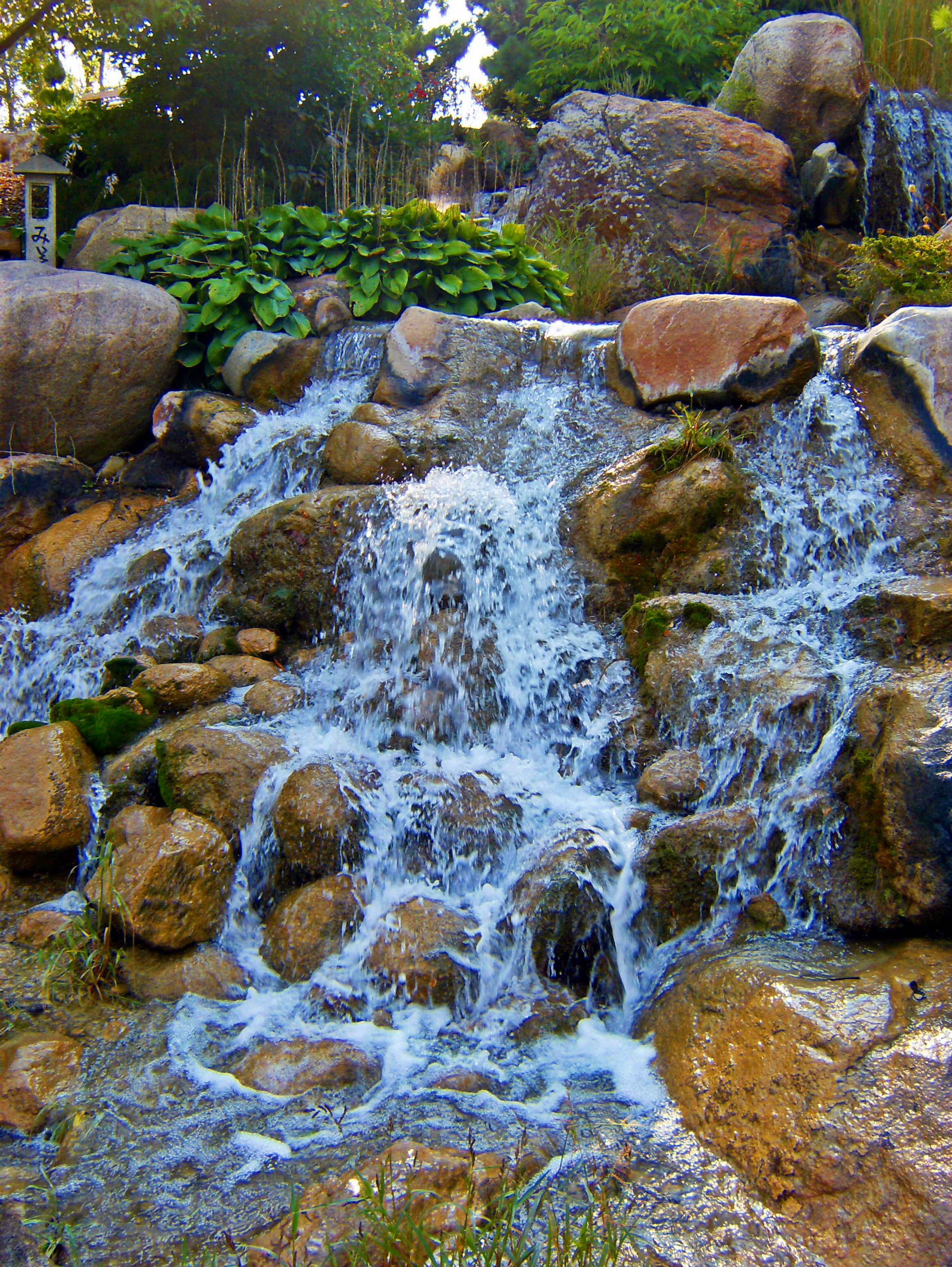 File waterfall at japanese water for Backyard water garden