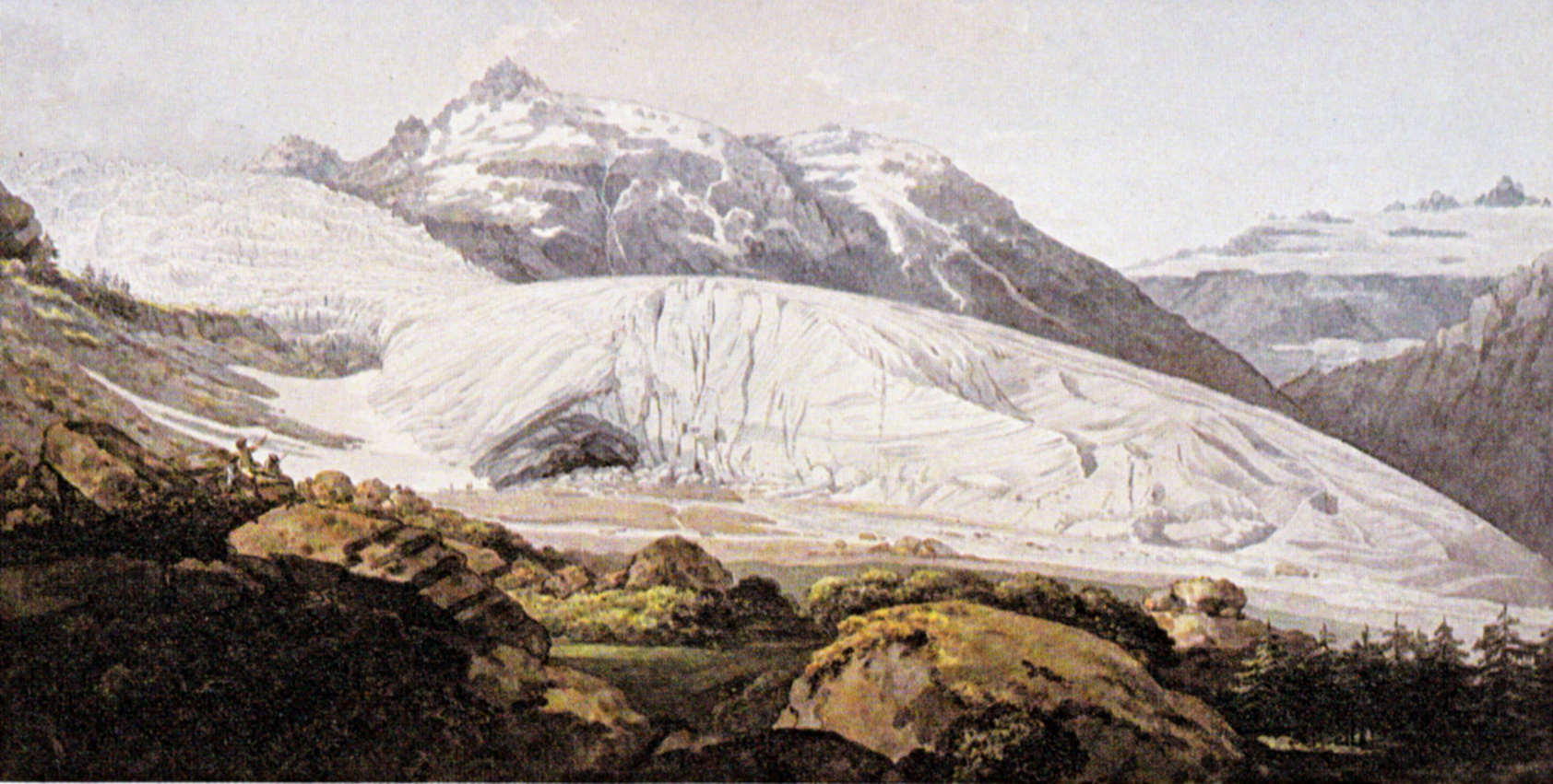 William Pars, the Rhone glacier in Switzerland, 1770