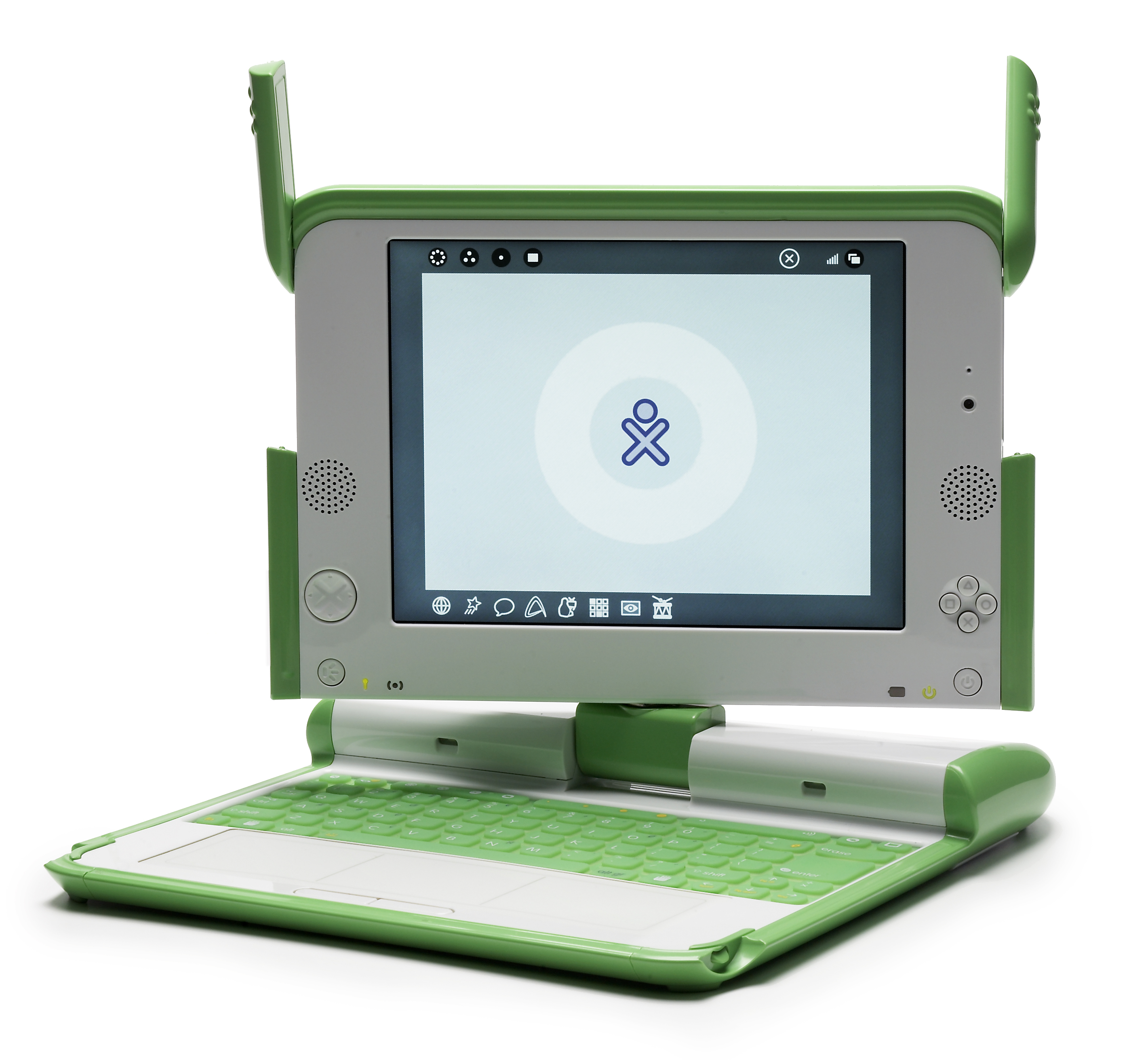 XO laptop used by the One Laptop Per Child (OLPC) program