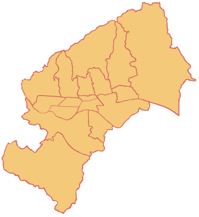 Districts of Zagreb Zagreb's city districts.png
