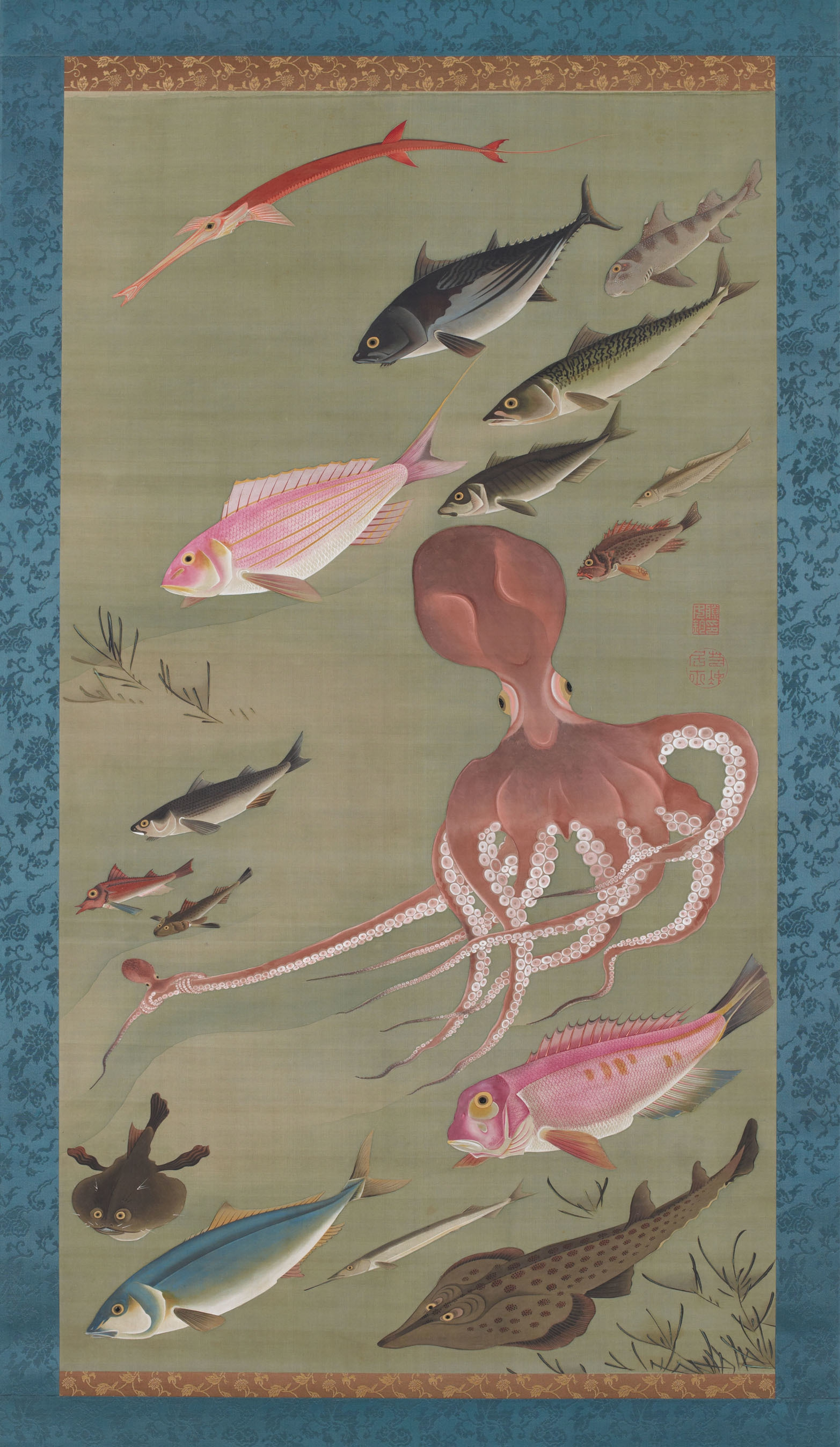 'Fish' from the 'Colorful Realm of Living Beings' by Ito Jakuchu.jpg
