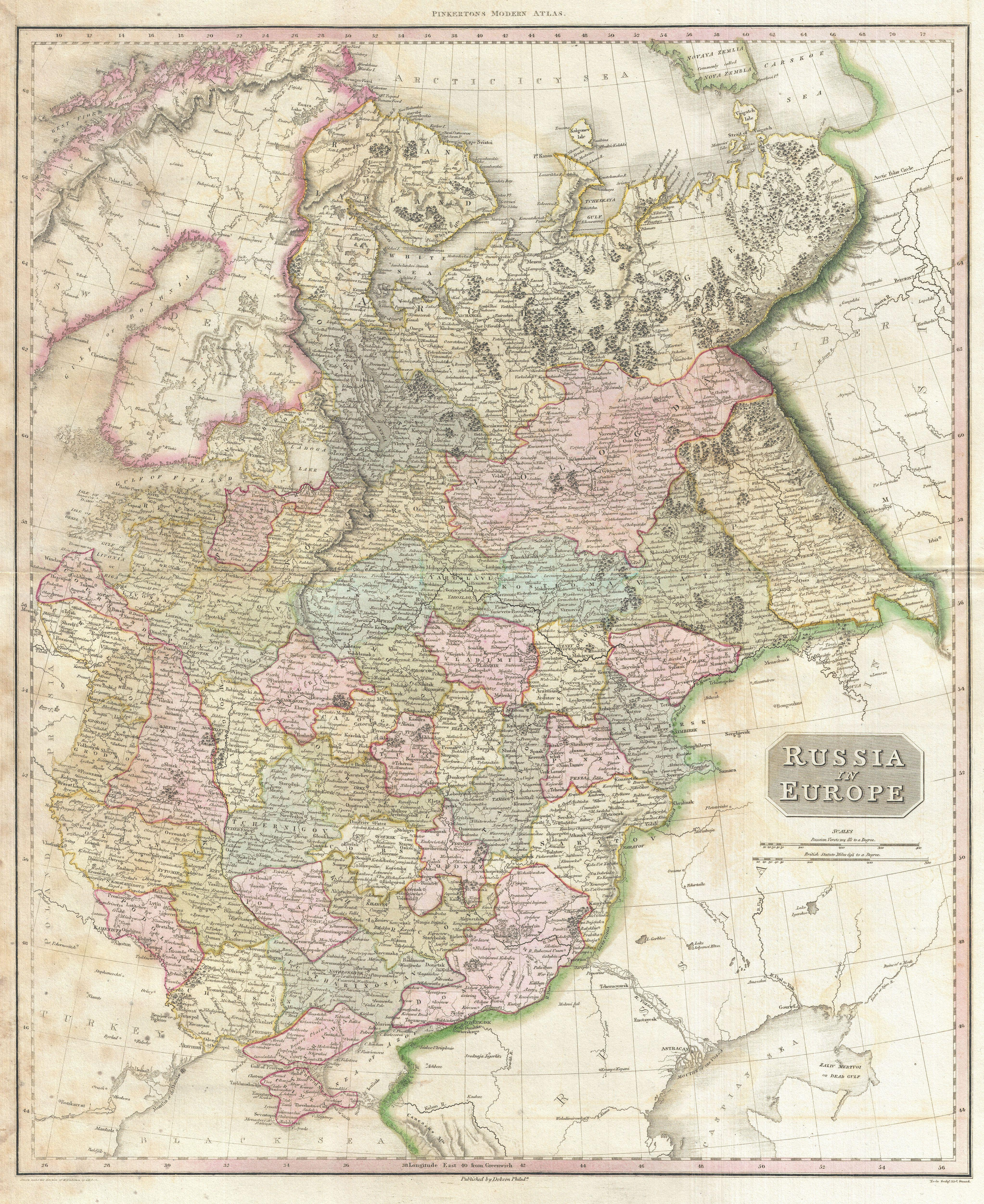File1818 Pinkerton Map of Russia in Europe Geographicus