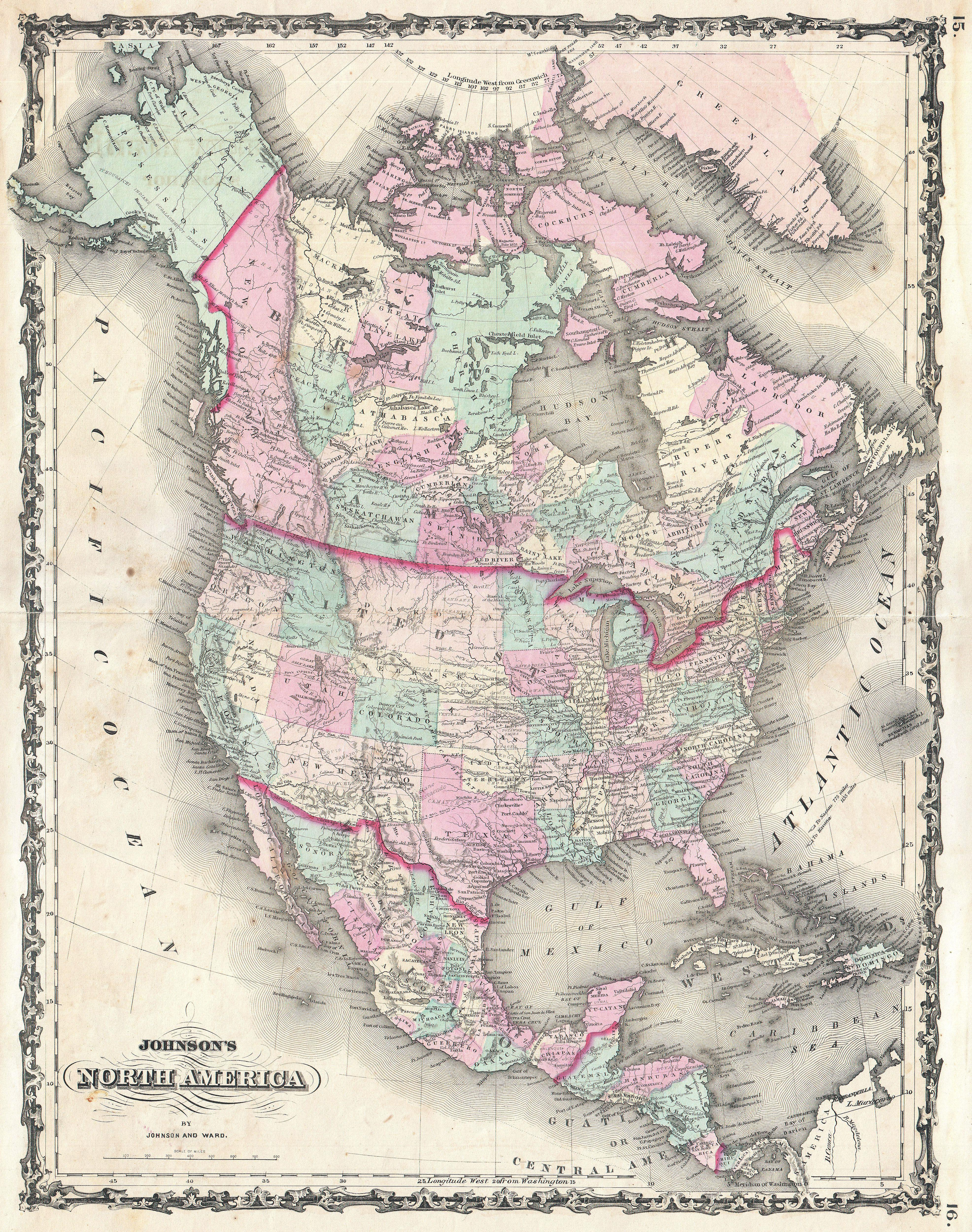 File Johnson Map Of North America Geographicus - Old maps of america