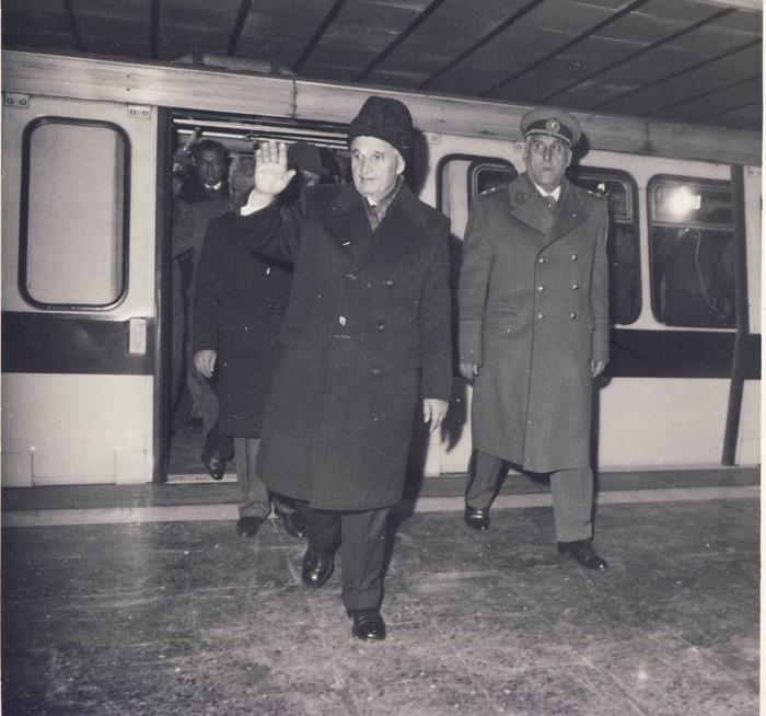 28 decembrie 1981. Inaugurarea celui de al doilea tronson al primei magistrale a metroului