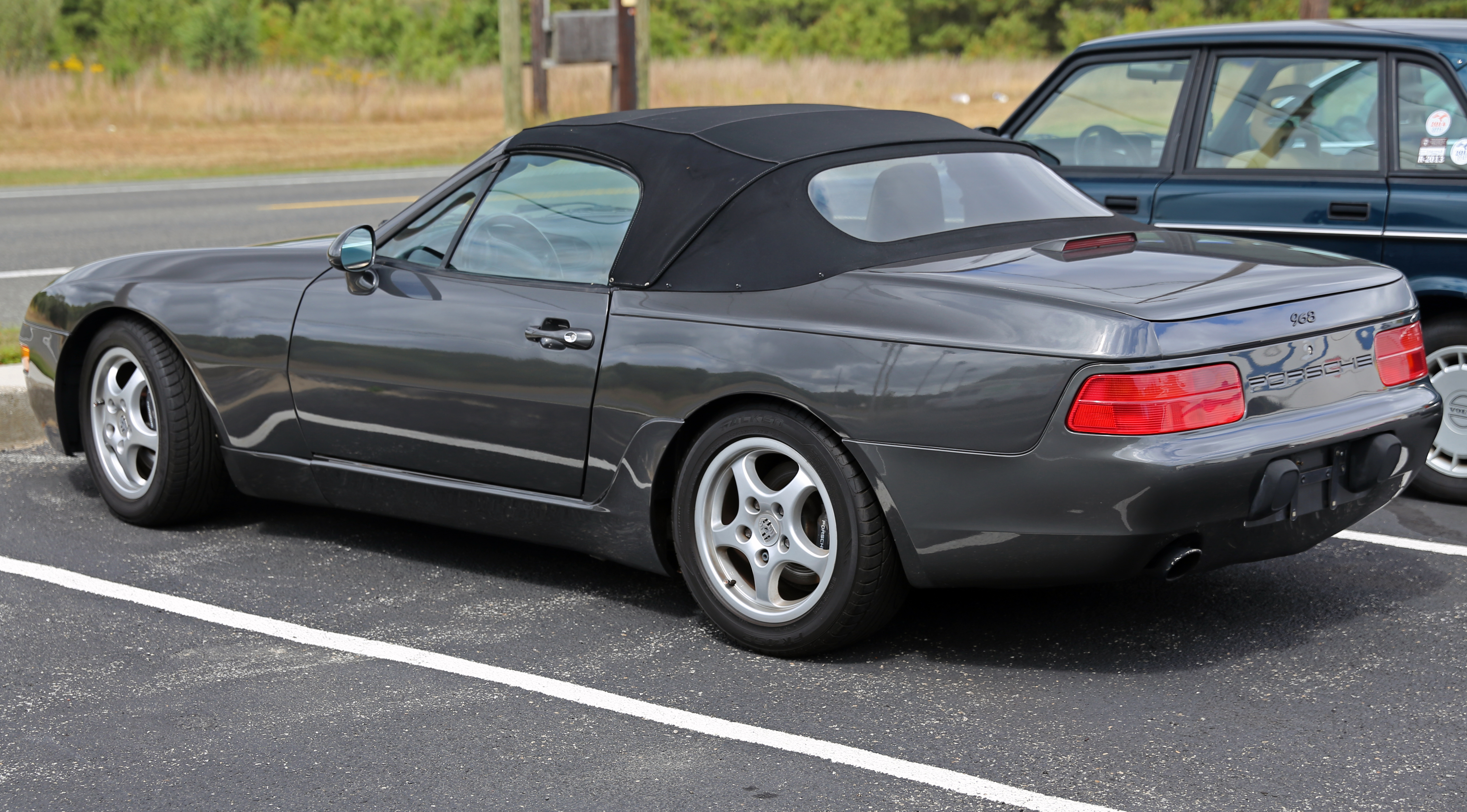 file:1993 porsche 968 cabriolet, rear left - wikimedia commons
