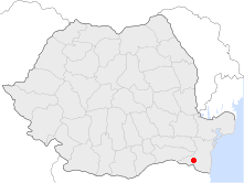 Location of Adamclisi
