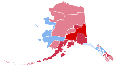 FileAlaska Presidential Election Results By Shaded Countypng - 2016 us election map results by county